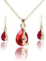 cheap -Women's Jewelry Set Pendant Necklace Simple Fashion Gift Daily Gold Plated 1 Necklace Earrings