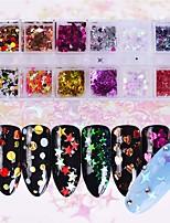 abordables -1 juego Art Decó / Retro Brillante Navidad Lentejuelas Nail Glitter Como imagen (color puede variar según el monitor) Nail Art Design