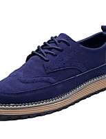 cheap -Men's Shoes Nubuck leather PU Spring Fall Comfort Oxfords for Casual Blue Brown Black