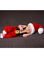 cheap -Baby Unisex Daily Color Block Clothing Set,Silk Summer Fall Simple Sleeveless Red