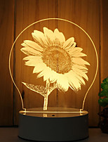 cheap -1 Set Of 3D Mood Night Light Hand Feeling Dimmable USB Powered Gift Lamp Sunflower
