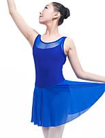 abordables -Ballet Vestidos Mujer Actuación Licra Combinación Sin mangas Cintura Media Vestido
