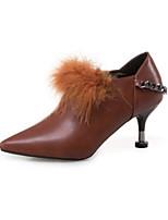 abordables -Femme Chaussures Polyuréthane Printemps Automne Confort Bottes à la Mode Bottes Talon Aiguille Bottine/Demi Botte pour Décontracté Noir