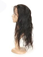 cheap -Remy Indian Lace Wig Natural Wave With Baby Hair Full Lace Natural Hairline 130% Density Natural Black Short Medium Long