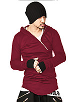 cheap -Men's Casual/Daily Simple Hoodie Print Round Neck Micro-elastic Cotton Long Sleeve Winter Spring/Fall