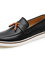 cheap -Men's Shoes Nappa Leather Spring Fall Moccasin Comfort Loafers & Slip-Ons for Casual Party & Evening Blue Coffee Black White