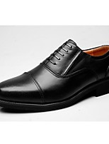 cheap -Men's Shoes Nappa Leather Spring Fall Formal Shoes Oxfords for Casual Office & Career Black
