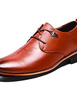 Недорогие -Для мужчин обувь Полиуретан Весна Осень Удобная обувь Туфли на шнуровке для Черный Коричневый