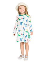 cheap -Girl's Daily Holiday Print Dress,Cotton All Seasons Long Sleeves Cute Casual Rainbow