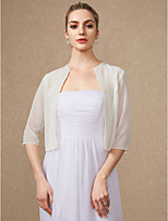 cheap -3/4 Length Sleeves Chiffon Wedding Party / Evening Women's Wrap Shrugs