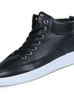 cheap -Men's Shoes Customized Materials Leatherette Winter Spring Comfort Sneakers for Casual Outdoor Black White