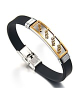 cheap -Men's Link Bracelet , Asian Vintage Ethnic Stainless Steel Leather , Button Jewelry For Daily Formal