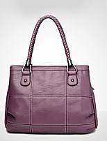 cheap -Women Bags PU Shoulder Bag Ruffles Zipper for Outdoor Office & Career All Season Purple Gray Red Black