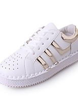 cheap -Women's Shoes Rubber Winter Fall Comfort Sneakers Flat Heel Round Toe for Outdoor Pink Silver Gold