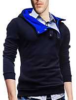 cheap -Men's Plus Size Daily Vintage Casual Hoodie Solid Hooded Micro-elastic Polyester Long Sleeve Spring/Fall