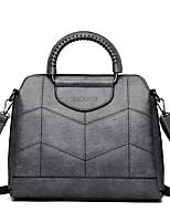 cheap -Women Bags PU Shoulder Bag Zipper for Event/Party Casual Winter Fall Wine Brown Purple Gray Black