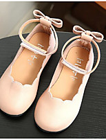 cheap -Girls' Shoes Leatherette Winter Fall Comfort Flats Walking Shoes Buckle for Casual Black Beige Gray Pink