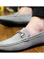 Недорогие -Для мужчин обувь Нубук Весна Осень Удобная обувь Мокасины и Свитер для Повседневные Черный Серый Синий Вино