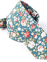 cheap -Men's Cotton Necktie,Casual Print All Seasons Blue
