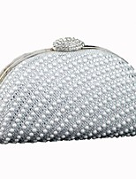 cheap -Women Bags Polyester Evening Bag Pearl Detailing for Wedding Event/Party All Season Silver Gold Champagne
