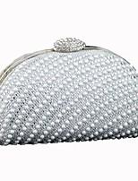 preiswerte -Damen Taschen Polyester Abendtasche Perlen Verzierung für Hochzeit Veranstaltung / Fest Alle Jahreszeiten Champagner Gold Silber
