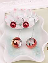 preiswerte -Damen Gestlyte Ohrringe Vorne Hinten Süß lieblich Künstliche Perle Vierblättriges Kleeblatt Schmuck Party Alltag