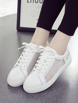 cheap -Women's Shoes PU Summer Comfort Sneakers Walking Shoes Flat Closed Toe for Casual White