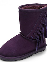 cheap -Girls' Shoes Suede Winter Fall Comfort Snow Boots Boots Mid-Calf Boots for Casual Purple Gray Dark Blue
