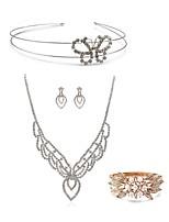 cheap -Women's Bangles Bridal Jewelry Sets Rhinestone Fashion European Wedding Party Imitation Diamond Alloy Drop Butterfly Body Jewelry 1