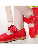 cheap -Girls' Shoes PU Spring Fall Comfort Flower Girl Shoes Flats for Casual Pink Red White