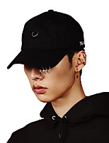 cheap -Men's Cotton Baseball Cap Sun Hat,Work Casual Solid All Seasons Stylish White Black