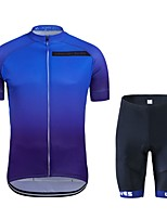 cheap -Cycling Jersey with Shorts Unisex Short Sleeves Bike Clothing Suits Bike Wear Quick Dry Geometric Cycling / Bike Dark Blue