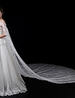 Недорогие -Один слой Современный Аксессуары Цветочный дизайн Кружевная кромка Свадьба С кружевами европейский Принцесса Крупногабаритные Свадебные