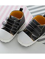 Недорогие -Дети обувь Дерматин Весна Осень Удобная обувь Обувь для малышей На плокой подошве для Повседневные Черный Кофейный Светло-желтый