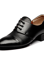 cheap -Men's Latin Leather Oxford Low Heel Black Customizable