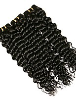 cheap -Brazilian Curly Human Hair Weaves 3 Pieces 0.15