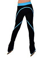 cheap -Over The Boot Figure Skating Tights Women's Girls' Ice Skating Pants / Trousers Blue Spandex Stretchy Performance Practise Skating Wear