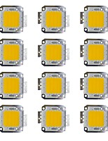 Недорогие -30w cob 2400lm 3000-3200k / 6000-6200k теплый белый / белый светодиодный чип dc30-36v 12 шт.
