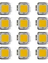 cheap -30W COB 2400LM 3000-3200K/6000-6200K Warm White/White LED Chip DC30-36V 12Pcs
