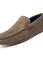 cheap -Men's Shoes PU Spring Fall Moccasin Comfort Loafers & Slip-Ons for Casual Black Blue Khaki