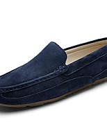 Недорогие -Муж. обувь Нубук Весна Осень Удобная обувь Мокасины и Свитер для Повседневные Черный Серый Синий Хаки