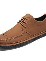 cheap -Men's Shoes Nappa Leather Spring Fall Comfort Oxfords for Outdoor Black Gray Yellow