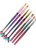 Недорогие -1шт новый стиль ногтей окрашены ручкой и резьбой мелки ружье карандаш