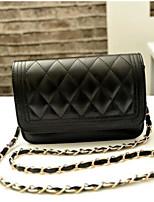 cheap -Women Bags PU Shoulder Bag Buttons Zipper for Casual All Season Black