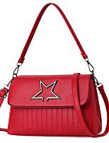 cheap -Women Bags PU Polyester Shoulder Bag Zipper for Casual All Season Royal Blue Gray Drak Red Blushing Pink Red