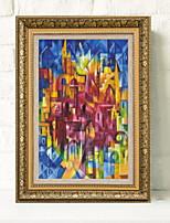 Недорогие -Иллюстрации Предметы искусства,Алюминиевый сплав материал с рамкой For Украшение дома Предметы искусства в рамках Гостиная В помещении