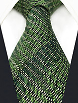 cheap -Silk Necktie, Vintage Work Casual All Seasons Green