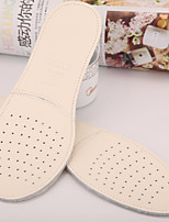 cheap -2 Piece Breathable Shock Absorption Deodorant Insole & Inserts Genuine Leather Durable All Shoes Spring Summer Unisex White