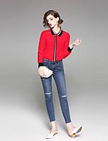 cheap -EWUS Women's Holiday Work Active Spring Summer ShirtSolid Shirt Collar  Sleeve Silk