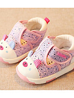 cheap -Baby Shoes Fabric Spring Fall Comfort First Walkers Flats for Casual Khaki Light Blue Pink Gray